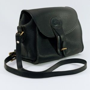 Vintage Doone & Bourke crossbody leather black bag
